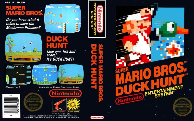 Super Mario Bros Duck Hunt Arcade Artwork